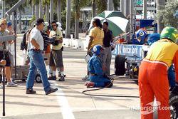 TV crew for the CBS crime-solving drama CSI: Miami shoots a race scene