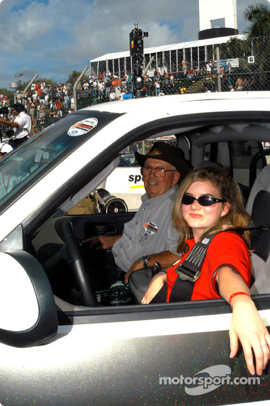 Cody Unser and Wally Dallenbach in the Ford Mobility truck