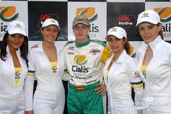 Sébastien Bourdais con unas chicas