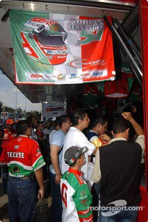 Fernandez Racing merchandising area