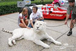Darren Manning avec un tigre
