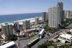 Vista aérea del circuito de Surfers Paradise