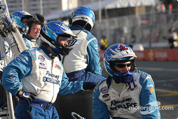 Forsythe Racing crew members wait for the end of the race