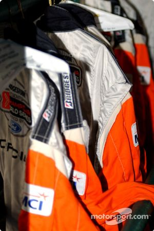 Dry cleaned fire suits for the officials