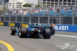 Paul Tracy follows Bruno Junqueira out