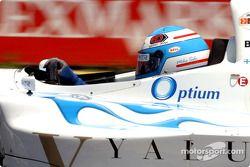 Mika Salo heads down pit lane