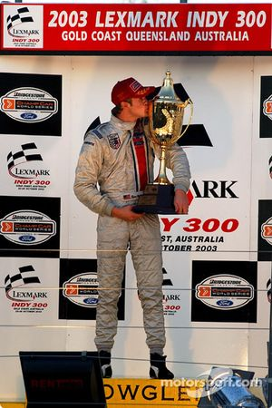 Podium: race winner Ryan Hunter-Reay