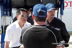 Brian Ma, Alex Tagliani and Paul Gentilozzi