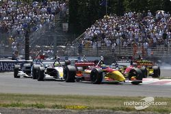 Start zum ChampCar-Rennen in Portland 2004: Sébastien Bourdais führt