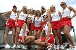 The lovely Molson Canadian hostesses