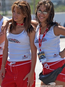 Two of the Molson Indy contestents pose for a quick photo