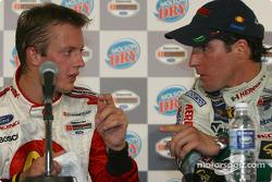 Press conference: pole winner Sébastien Bourdais with Mario Dominguez