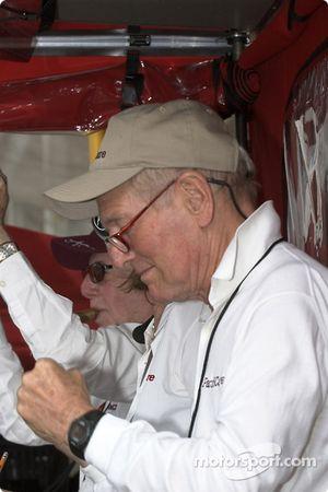 Paul Newman celebrates Bruno's victory