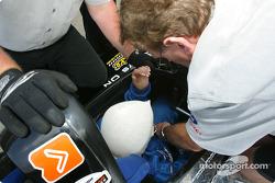ChampCar Bi-Place : le passager est attaché dans la voiture