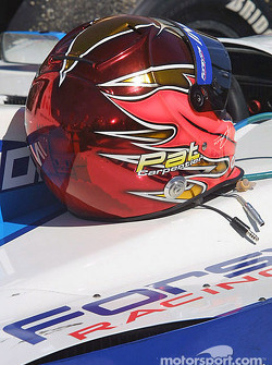 The winning helmet