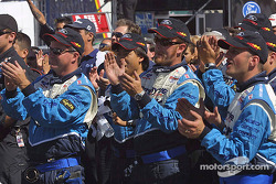 Forsythe Championship Racing crew members celebrate