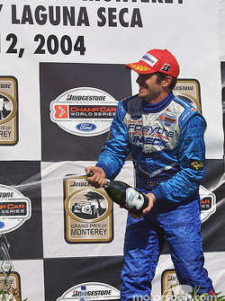 Podium: champagne for Patrick Carpentier