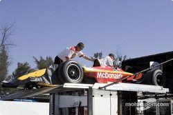 Newman/Hass Racing crew members