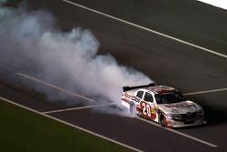 Race winner Joey Logano, Joe Gibbs Racing Toyota celebrates