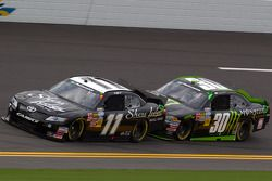 Brian Scott, Joe Gibbs Racing Toyota and Ricky Carmichael, Chevrolet