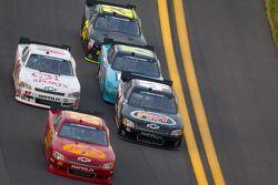 Morgan Shepherd, Shepherd Chevrolet leads a group of cars