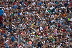 Fans wait for the race