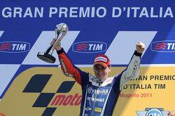 Podium: race winner Jorge Lorenzo