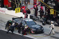 Pit stop for Brian Scott, Joe Gibbs Racing Toyota