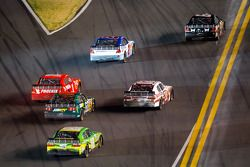 Tony Stewart, Kevin Harvick Inc. Chevrolet leads a group of cars back to track