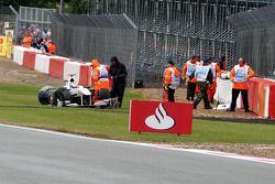 Kamui Kobayashi, Sauber F1 Team crash