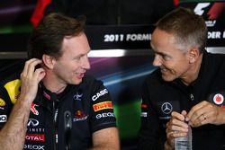 Christian Horner, Red Bull Racing, Sporting Director, Martin Whitmarsh, McLaren, Chief Executive Off