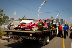 Car of Marco Andretti, Andretti Autosport on platform truck