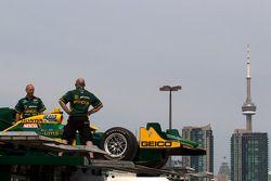 KV Racing Technology-Lotus team en de Toronto skyline