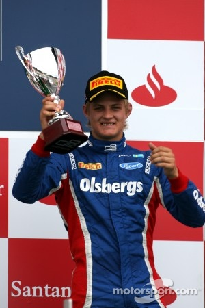 Podium: third place Marcus Ericsson, iSport International