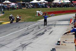 #5 Dane Westby aan de finish