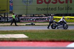 #8 Team Iron Horse BMW, BMW S1000RR: Chris Peris' crash brings out a red flag