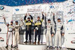 #63 Genoa Racing Oreca FLM09: Eric Lux, Elton Julian, #06 CORE Autosport Oreca FLM09: Gunnar Jeannet
