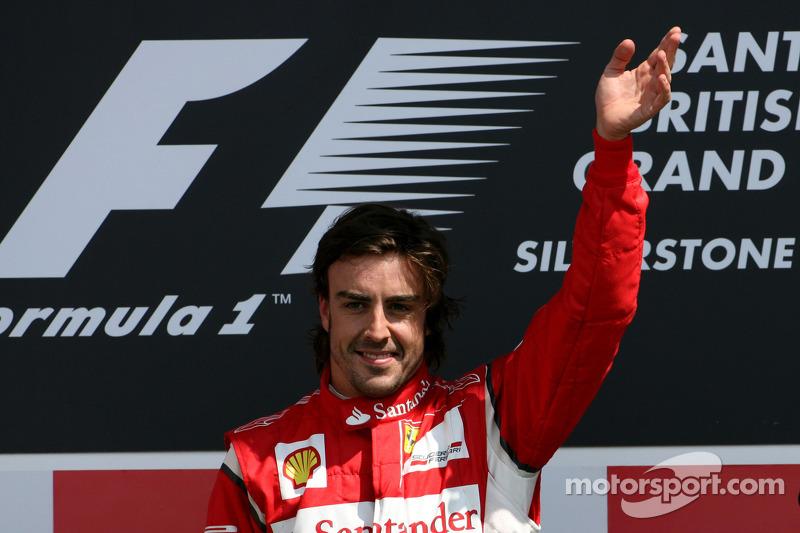 Podio: ganador de la carrera Fernando Alonso, Scuderia Ferrari