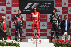 Podium: 1. Fernando Alonso, 2. Sebastian Vettel, 3. Mark Webber