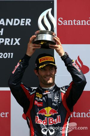 Podium: third place Mark Webber, Red Bull Racing