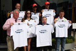 Michelle Yeoh, ex. James Bond girl, actor, Girlfriend of Jean Todt, Jean Todt, FIA president, Lewis Hamilton, McLaren Mercedes, Jenson Button, McLaren Mercedes, Paul di Resta, Force India F1 Team