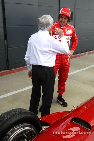 Bernie Ecclestone, Scuderia Ferrari drives the 1951 Silverstone winning Ferrari 375