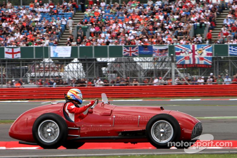 Fernando Alonso, Scuderia Ferrari, 1951 Silverstone winning Ferrari 375