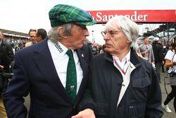 Sir Jackie Stewart with Bernie Ecclestone (GBR)