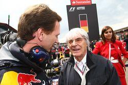 Christian Horner, Red Bull Racing, Sporting Director with Bernie Ecclestone