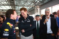 Christian Horner, Red Bull Racing, Sporting Director with Prince Harry, Sir Jackie Stewart and Damon Hill