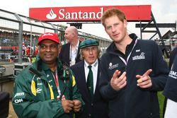 Tony Fernandes, Team Lotus, Team Principal with Prince Harry