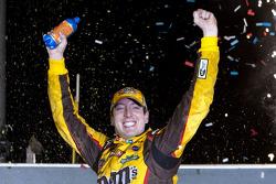 Victory lane: race winner Kyle Busch