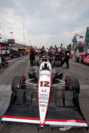 Pole Will Power, Team Penske op de startgrid