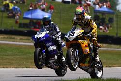 #6 Pat Clark Motorsports Graves Yamaha, Yamaha YZF-R6: Tommy Aquino #69 Richie Morris Racing, Suzuki GSX-R600: Danny Eslick